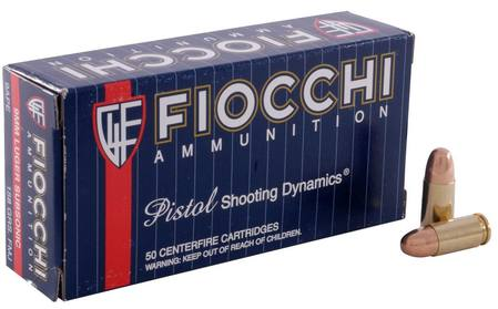 9mm Luger Fiocchi 158gr Subsonic Full Metal Jacket 50 Rounds