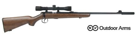 22LR Outdoor Arms Rabbiter Wood: Scope & Silencer Package, 16 or 22
