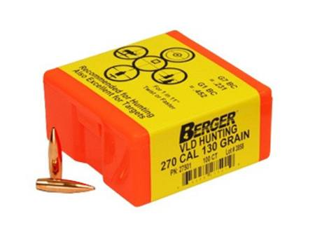Berger  270 130gr VLD Hunting Projectiles