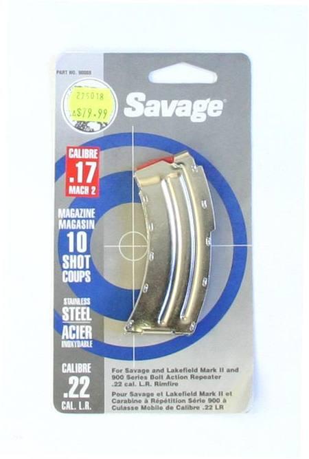 Savage 17 MACH2 Magazine 10 Shot Stainless Steel