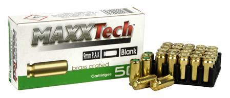MAXXTech 9mm P A K Blank Cartridges