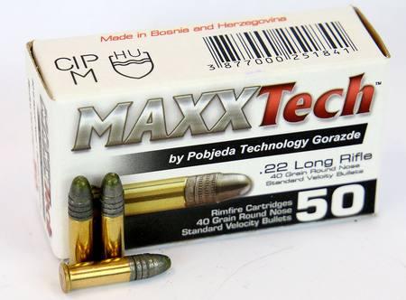 22 LR MAXXTech 40gr LRN