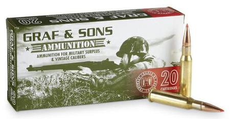 7 62x54R Hornady Graf & Sons 150GR SST: 20 Rounds