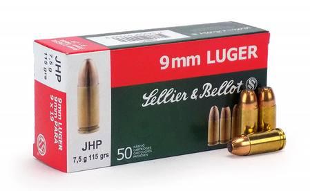 Sellier & Bellot 9mm Luger 115gr JHP x50