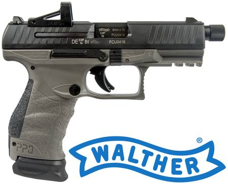 9mm Walther PPQ Q4 TAC with RMSc Red Dot Sight