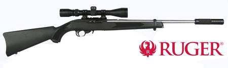 Ruger 10/22 Stainless/Synthetic with 3-9x40 Scope and Suppressor NZ - 22 LR Semi Auto by Gun City