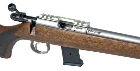 CZ 455 Lux II: Stainless/Walnut NZ - 22 LR Bolt Action by
