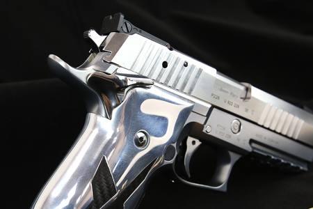 9mm SIG P226 X-Short Chrome Carbon NZ - 9mm Pistol by Gun City