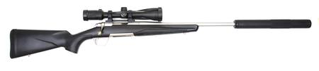 Buy 22-250 Browning X-Bolt Stainless/Synthetic 3-9X40 Silenced in NZ.