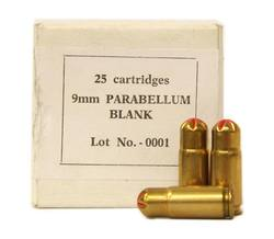 Buy 9mm Brass Blank Ammo 25 Rounds in NZ New Zealand.
