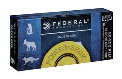 Buy 22-250 Federal  Power Shok 55gr Soft Point in NZ New Zealand.