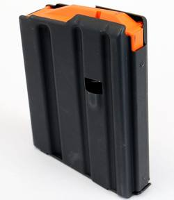 Buy AR15 Mag 5 Round Stainless/Black With Orange Follower in NZ New Zealand.