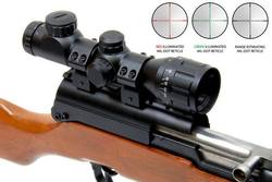 Buy Outdoor Optics SKS 4x32 AO Compact Scope: Mil-Dot Illuminated Reticle in NZ New Zealand.