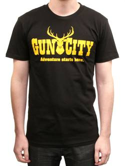 Buy Gun City Deer T-Shirt - Black *Choose Size* in NZ New Zealand.