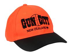 Buy Gun City Blaze Orange Camo Baseball Cap in NZ New Zealand.