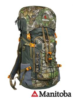 Buy Manitoba 45 Litre Quest Pack with Rifle Scabbard & Bladder: Realtree Camo in NZ New Zealand.