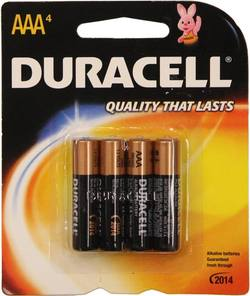 Buy Duracell AAA Batteries 4 Pack in NZ New Zealand.