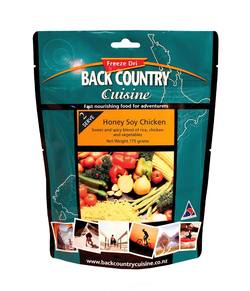 Buy Back Country Cuisine Freeze Dri Meal: Honey Soy Chicken in NZ New Zealand.