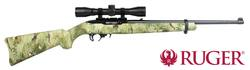 .22LR Ruger 10/22 Blued/Wolf Camo & Scope Package