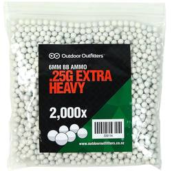 Buy 6mm Outdoor Outfitters .25g x2000 Extra Heavy BBs in NZ New Zealand.