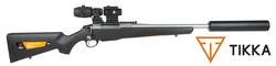 Buy .223 Tikka T3x Stainless/Synthetic with Ranger Red Dot, Magnifier & Ghost Silencer in NZ New Zealand.