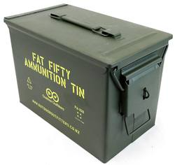 Buy OO Fat Fifty Ammunition Tin with Padlock Latch *Brand New* in NZ New Zealand.