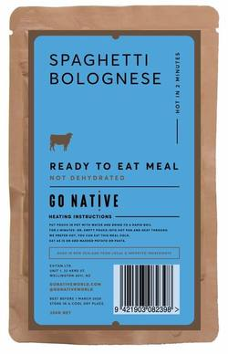 Buy Go Native Instant Spaghetti Bolognese Meal in NZ New Zealand.