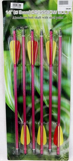 "Buy Crossbow bolt 14"" Perfect Line Red 6 Pack in NZ New Zealand."