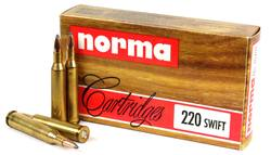 Buy Norma .220 Swift 50gr Custom Load x20 in NZ New Zealand.