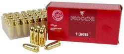 Buy 9mm Luger Fiocchi 123gr FMJ: 50 Rounds in NZ New Zealand.