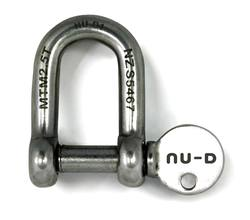 Buy Captive Pin D-Shackle 8mm x1 in NZ New Zealand.
