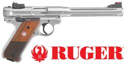 "Buy .22 LR Ruger Mark IV Hunter: Stainless/Wood - 6.88"" Barrel in NZ New Zealand."