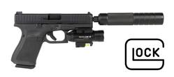 Buy .22LR Glock 44 Compact with Olight Torch, Laser & Silencer in NZ New Zealand.