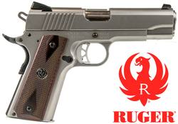 "Buy .45 ACP Ruger SR1911 Commander: Stainless/Wood - 4¼"" Barrel in NZ New Zealand."