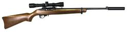Buy 22 Ruger 10/22 Blued/Wood 4X32 Scope & Silenced in NZ New Zealand.