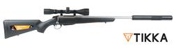 Tikka T3X Stainless/Synthetic with Scope and Silencer